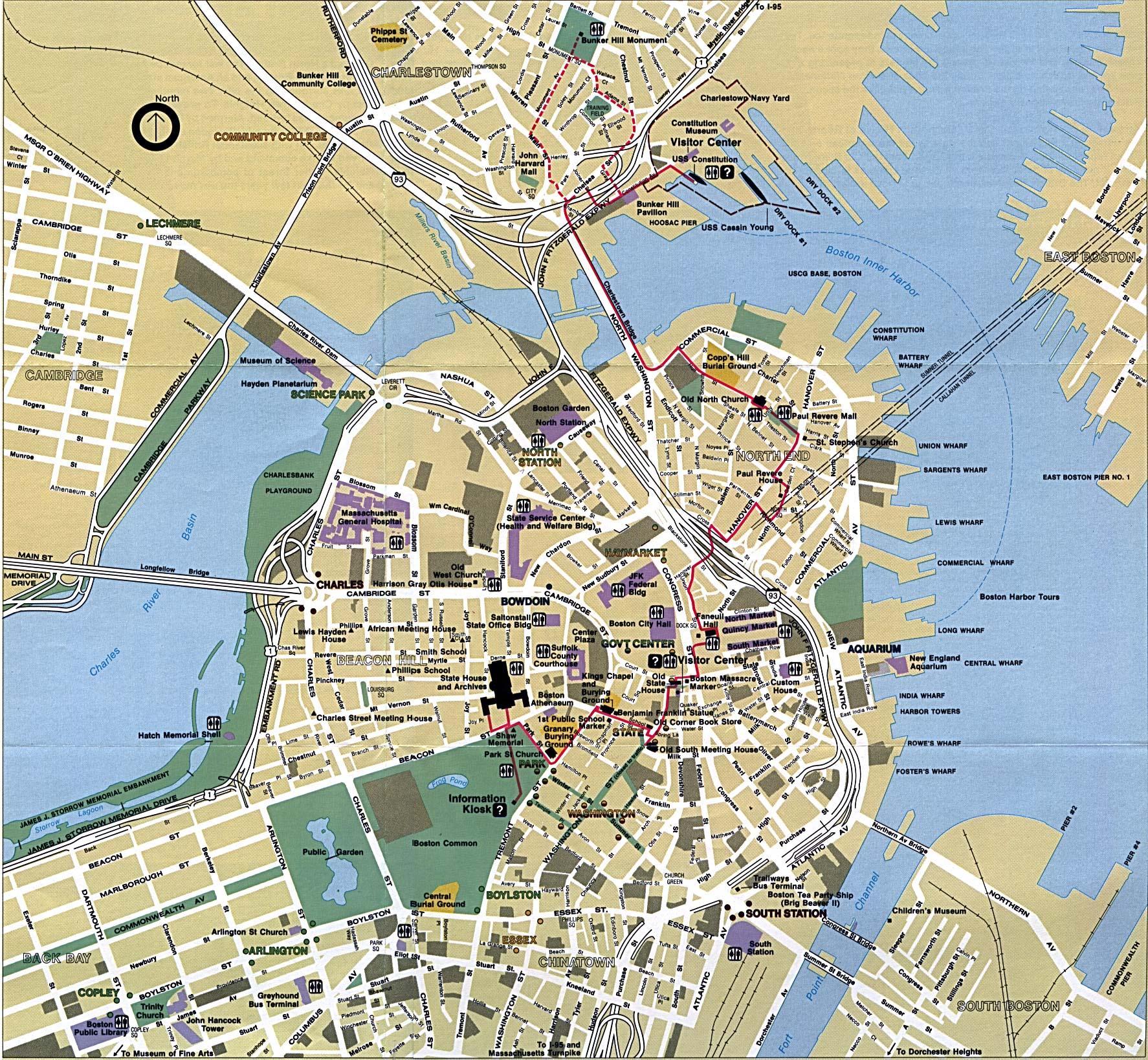 Boston Map Boston City Map United States Of America - City map of united states