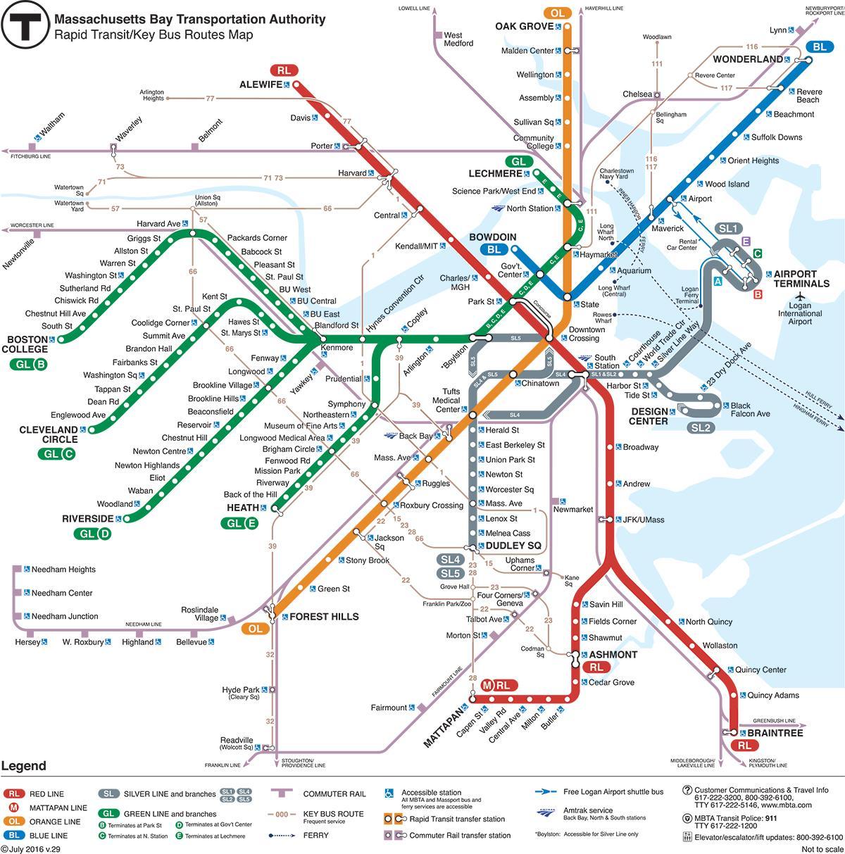 Green Line Map Green line MBTA map   Green line map Boston (United States of America) Green Line Map