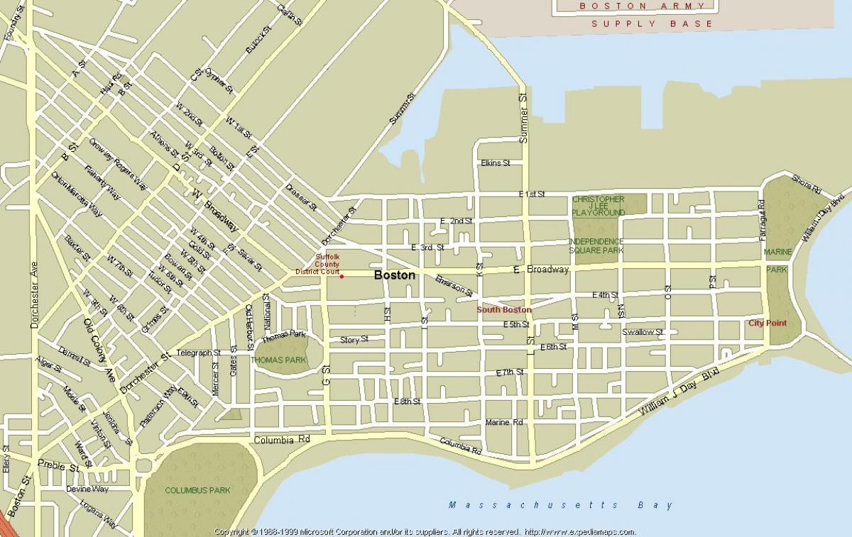 Boston Ma Map Map Of Boston Mass United States Of America - Boston ma on us map