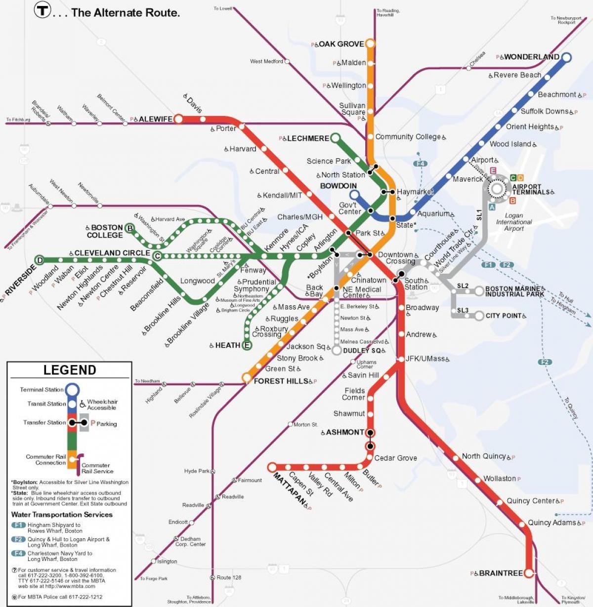 Orange Line Map MBTA orange line map   Orange line Boston map (United States of