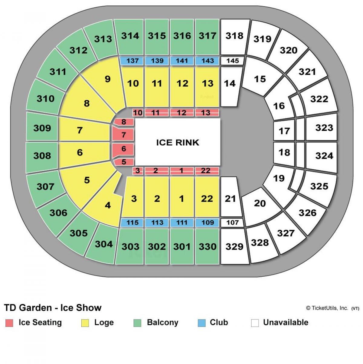 Td Garden Seat Map